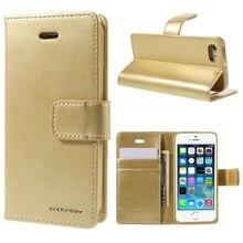 Goospery принципиально для iPhone 5 5S SE Оригинальный чехол для телефона Coque Blue Moon Бумажник PU кожаный чехол для Apple ракушками смартфон сумка