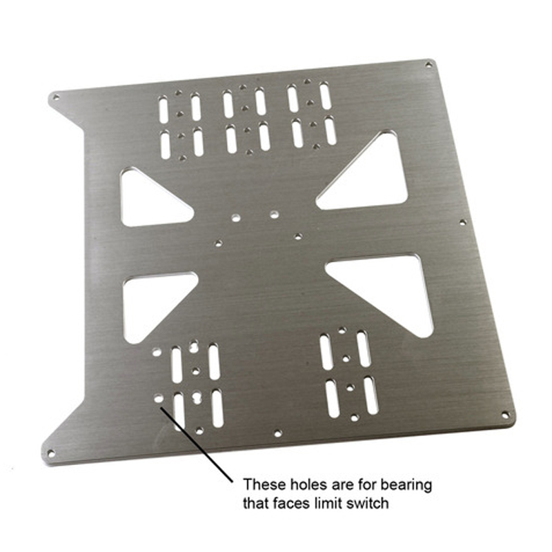 3D printer accessories heating platform Z-axis support aluminum plate for Prusa I3 hotbed support plate CNC NC machining a funssor black anodized z axis build plate form z axis aluminum build platform kit for dlp sla 3d printer