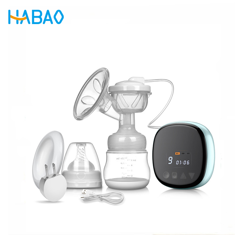 Habao Breast Pump Electric Feedkid Intelligent Maternity Breast Pump Mute Rechargeable Portable Milking Device intelligent timing counting balloon pump electric air pump steam ball inflating machine double blowing device