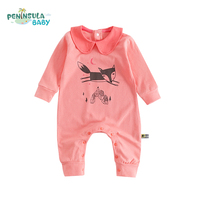Newborn Baby Rompers Baby Boy Girl Clothes Cartoon Fox Long Sleeve Baby Costumes For Babies Jumpsuit