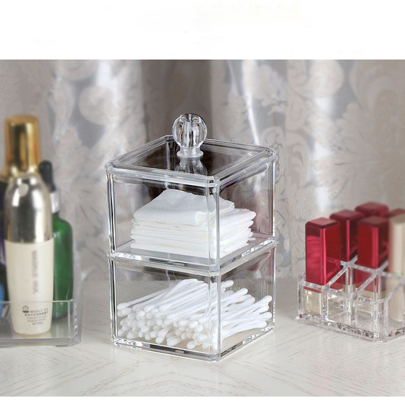 Hot Selling Clear Acrylic Storage Container Jewelry Women\'s Powder ...