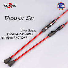 KUYING VITAMIN SEA 1 5 Sections 2 04m Casting Spinning Carbon Lure Fishing Slow Jigging Rod