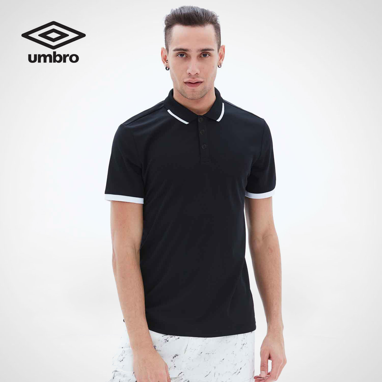 Umbro New Men Leisure Short Sleeved Polo Shirt Sports Style Breathable UO182AP2601 ...