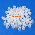 Tattoo Ink Cup Cap 500pcs/bag 11MM Clear White Medium Tattoo Ink Cups Caps Tattooing Supplies for free shipping  without Base