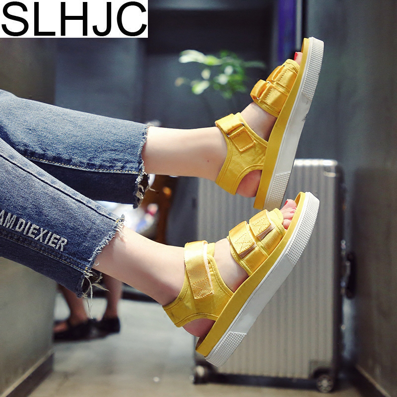 SLHJC Women Sandals Low Wedges Heel Sport Shoes Summer Open Toe Platform Shoes Elevator Sandals