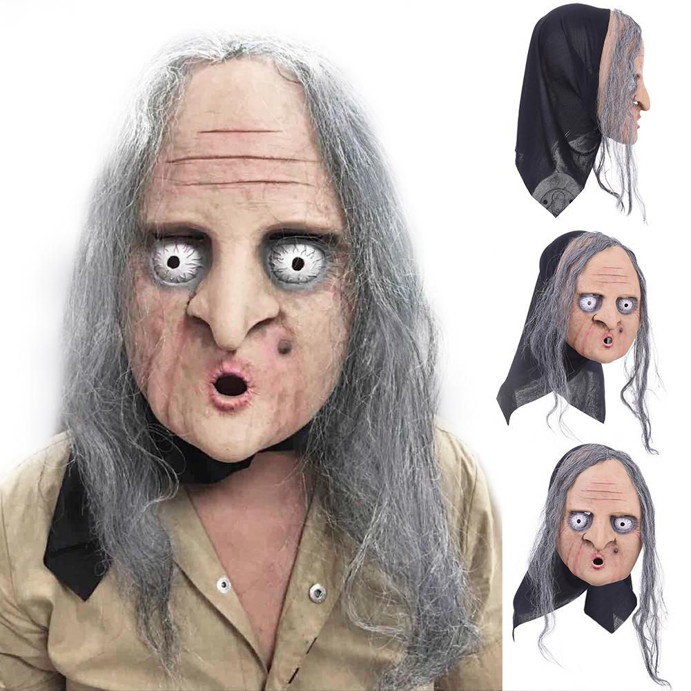 10 Styles Props Latex Mask Adult Halloween Multi Styles Halloween Ghost Festival Mask Cosplay Props Hot Costume Anonymous Mask