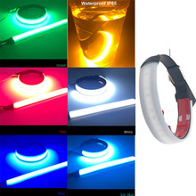 2pc Motorcycle LED Fork Turn Signal Strip Light Lamp High Quality Flasher Ring motorcycle led 45-70mm