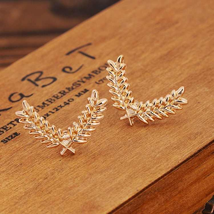 Корейская версия из рубашка мужская костюм булавка для воротника трехмерной Металл Пшеница небольшая брошь пара воротник пряжка доступом