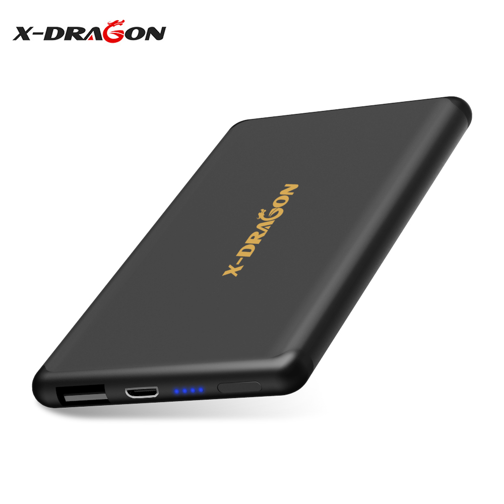 X-DRAGON Ultra Compact Power Bank <font><b>5000mAh</b></font> External <font><b>Battery</b></font> with Fast-Charging Charger for iPhone Samsung LG HTC Nokia Motorola