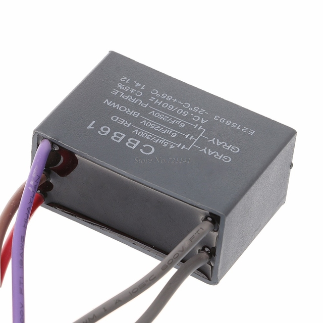 Cbb61 Ceiling Fan Capacitor 4 5uf 6uf 6uf 5 Wire 250v 5
