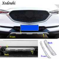 Car protection bumper Stainless trim front head/rear hoods bottom moulding hoods part For Mazda CX 5 CX5 2nd Gen 2017 2018