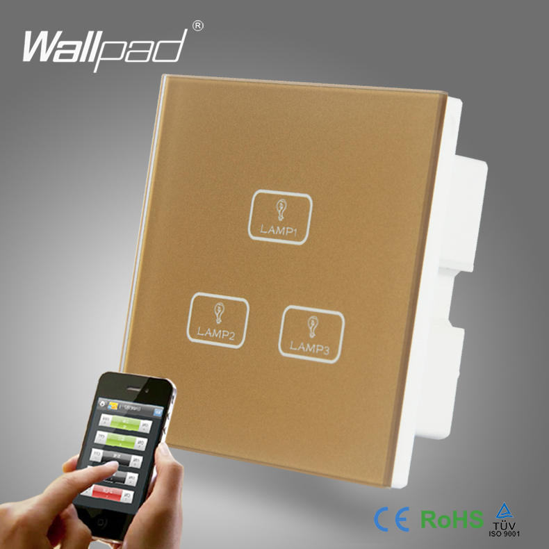 Popular Remote Control 3 Way Light Switch-Buy Cheap Remote Control ...:2pcs 3 Gang 2 Way 3 Way Smart Home Wallpad Gold Glass LED Gateway WIFI  Remote,Lighting