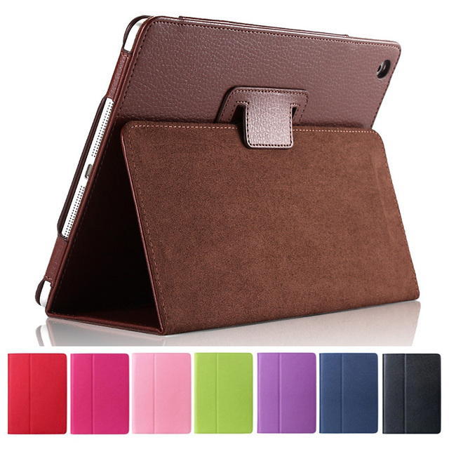 For Apple ipad 2 3 4 Case Auto Sleep /Wake Up Flip Litchi PU Leather Cover For New ipad 2 ipad 4 Smart Stand Holder Folio Case 1