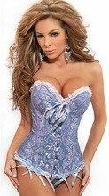 Plus Size S- 4XL/5XL/6XL Sexy Satin Embroidery Lace Corset
