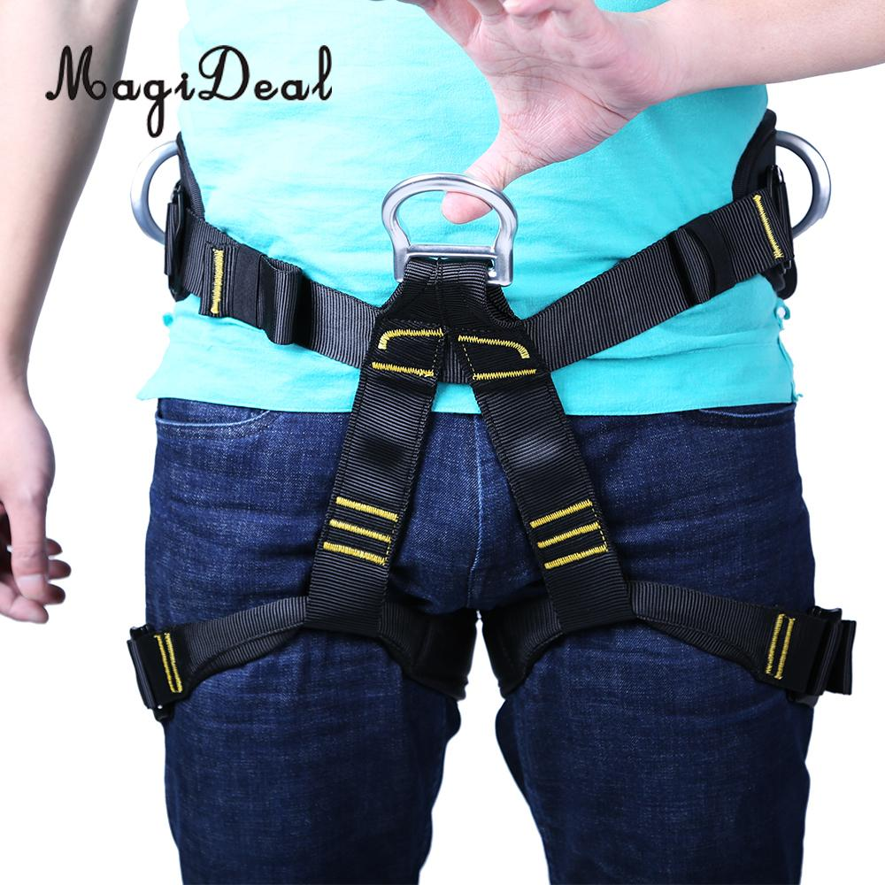 MagiDeal Outdoor Mountaineering Rock Climbing Rappelling Harness Seat Safety Sitting Bust Belt Half-Body Downhill Safety Belt