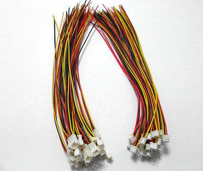 2 SETS Micro JST 1.25 3-Pin Male&Female Connector plug with Wires Cables jst xh2 54 2 3 4 5 6 78 9 10 pin connector plug male female crimps x 50sets