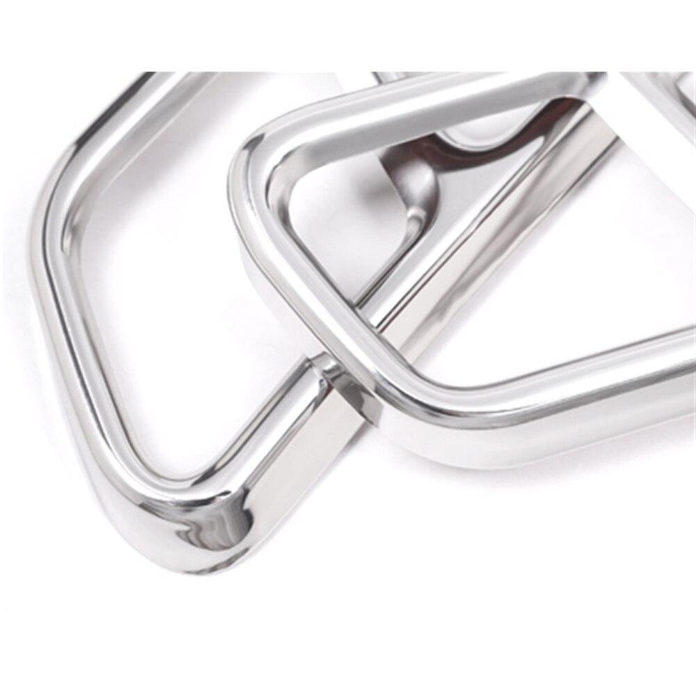2 Stuks Silver Gloss Frame Uitlaat Versieringen Gemakkelijk Installeren Staal Duurzaam Vervanging Decor Auto Deel Roestvrij Voor Benz Glc C E-klasse