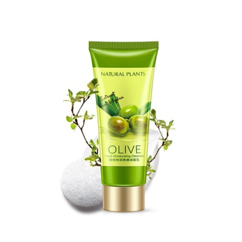 New Olive Essence Hydrating Whitening Shrink Pores Facial Cleanser Facial Cleansing Rich Foaming Face Cleanser Moisturizing