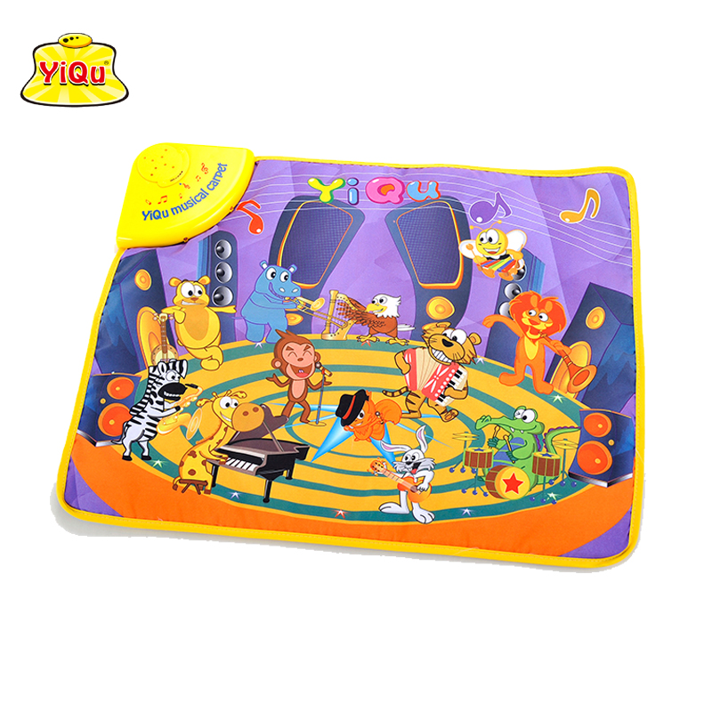 Hot selling baby play mat for children kids carpet baby musical carpet developing mats Animals sound educational toys