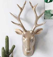 43*31*17CM Creative three-dimensional animal head mannequin deer wall hanging living room Wedding clothing Resin 1PC A328