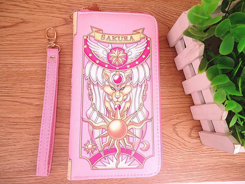 Takerlama Новый Косплей карта аниме Captor Sakura женский кошелек, кредитница держатели конверт сумка мультфильм Длинные кошельки с Zippe