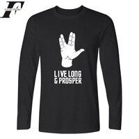 LUCKYFRIDAYF 2018 New Star Trek T Shirt Men Women Tops Hip Hop Harajuku Live Long Prosper