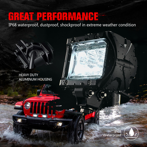 """Image 4 - Luz de led para piscina, luz de led para condução em barra, mictuning 2 peças k1 4 """"18w forjeep fora da estrada atv utv suv caminhão barco"""