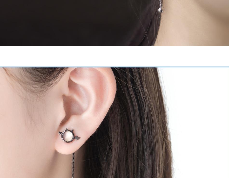 HTB1lijVEY1YBuNjSszeq6yblFXad Thaya original angel design stud earrings s925 sterling silver wing crystal + shell long line earring for women ladies gift