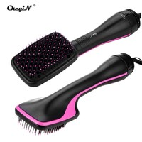 2 In 1 Hair Dryer Brush Hair Styler Negative Ionic Hot Air Brush Blow Dryer Electric Hair Comb Straightener Styling Tools 35