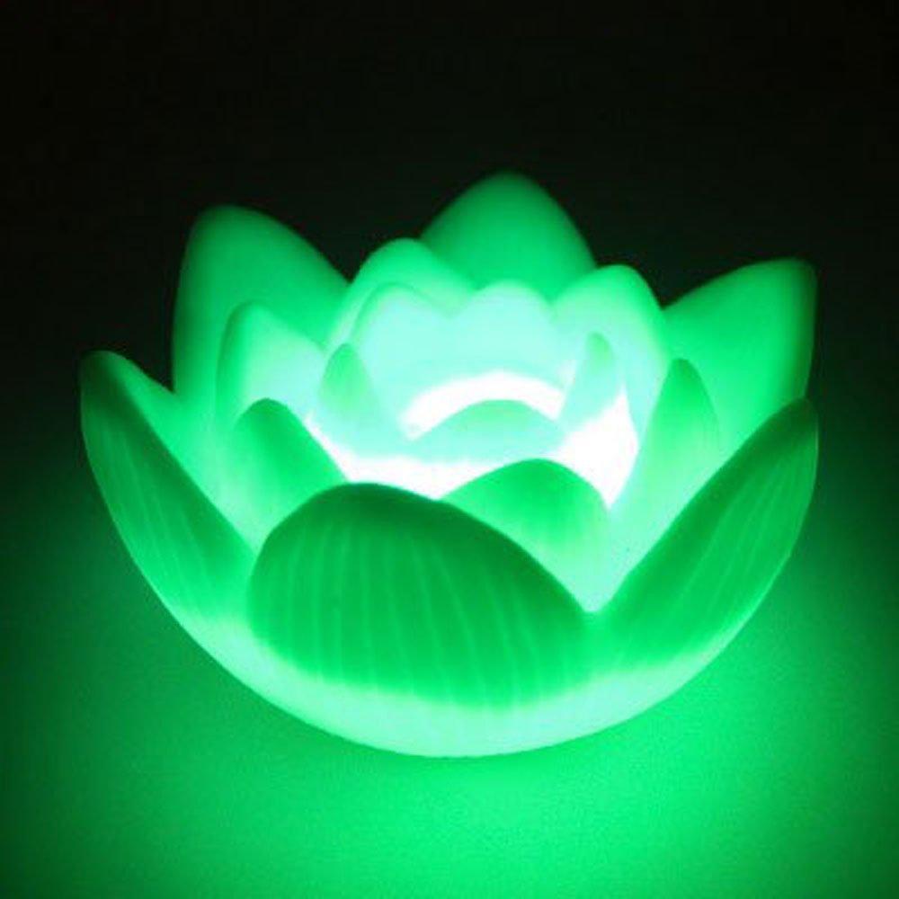 THGS-2pcs Изменение Цвета СВЕТОДИОДНЫЕ Цветок Лотоса Романтическая Любовь Настроение Ночника Свет, Семь Изменение Цвета