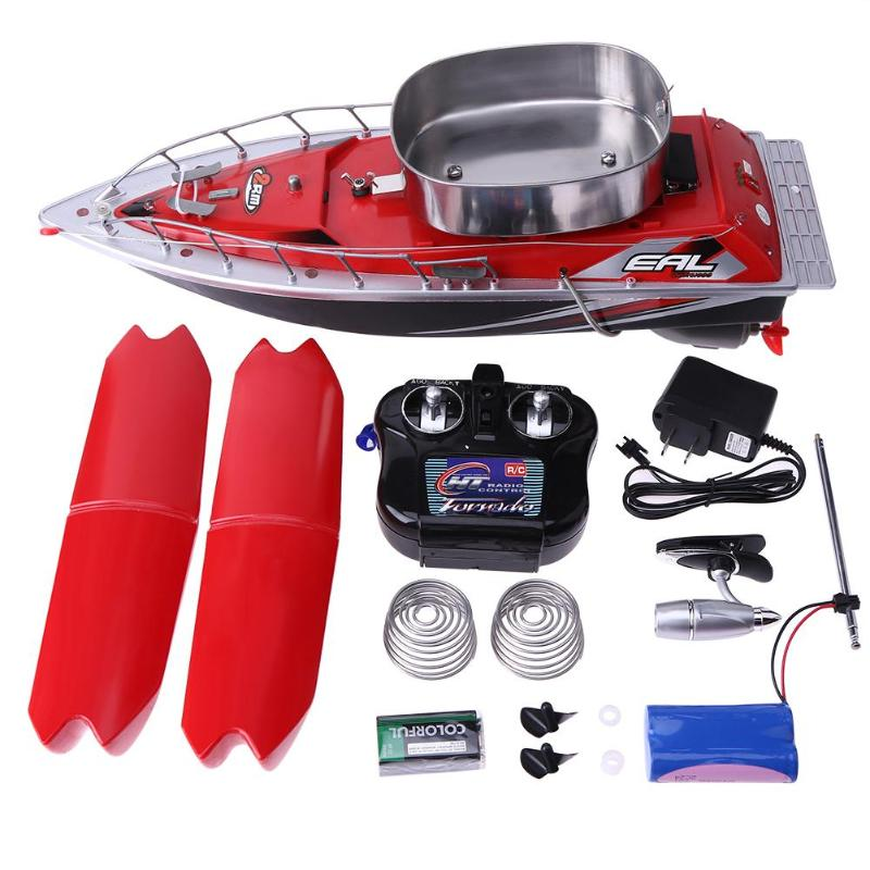 RC boat 5200MAH Mini fast electric RC fishing bait boat Wireless 300M Remote Fish Finder Anti Grass Wind fishing boat Lure boat boat