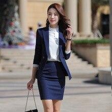 Женский комплект из двух предметов, элегантный полосатый блейзер с длинными рукавами+ юбка, комплект из 2 предметов, карьера в бизнесе, юбка, костюмы, офисная одежда, KY80869