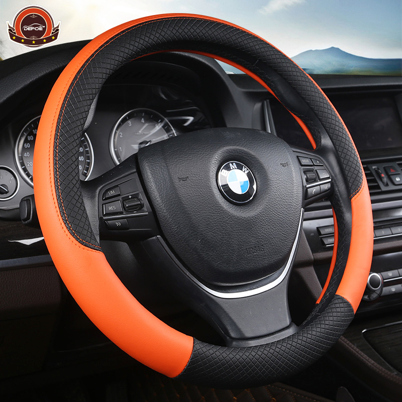 freeshipping Car steering-wheel car-covers steering wheel Diameter 38cm Micro Faux Leather material most small can use 5 color
