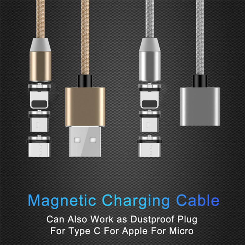 NOHON LED Magnetic 3 in 1 Charge Cable Micro USB Type C Lighting Fast  Charger Cables For iPhone 8 7 Plus X Samsung Huawei Xiaomi|Mobile Phone  Cables| - AliExpress