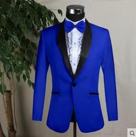 2019 new arrival slim men suit england mens wedding suits formal dress men's groom suit fashion singer dance stage blue white