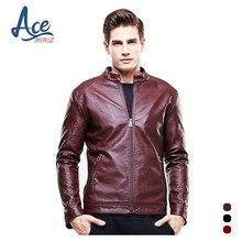 ACEMIRIZ 2017 Mens Leather Jacket PU Zippers Slim Coats Cutting Autumn Winter Coat Leather Basic Men Jackets Hot Sale HT-8602