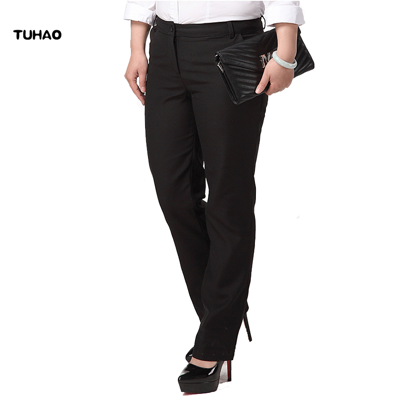 TUHAO Plus Size 6XL 5XL <font><b>4XL</b></font> Female Pants Women Trousers Work Wear Casual Spring Black Cargo Pants Elastic <font><b>Pantalones</b></font> <font><b>Mujer</b></font> YN13 image