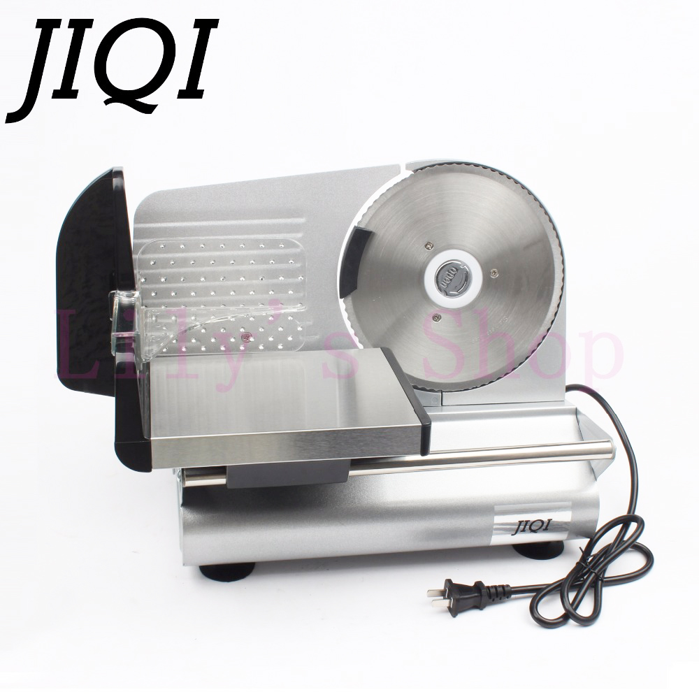JIQI electric meat slicer mutton roll frozen beef cutter lamb Vegetable Slicing machine stainless steel grinder 110V 220V EU US meat slicer stainless steel home business mutton volumes sliced beef slices shred meat planing machine