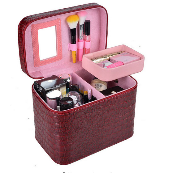 Pro High Quality Makeup Tool Set Organizer Cosmetic kit Case Large Capacity Storage Bag Disassembly Suitcases 0420# 2017 high quality taiwan bao gong pk 2801 vde1000v pro skit high voltage insulation electrician tool set free shipping