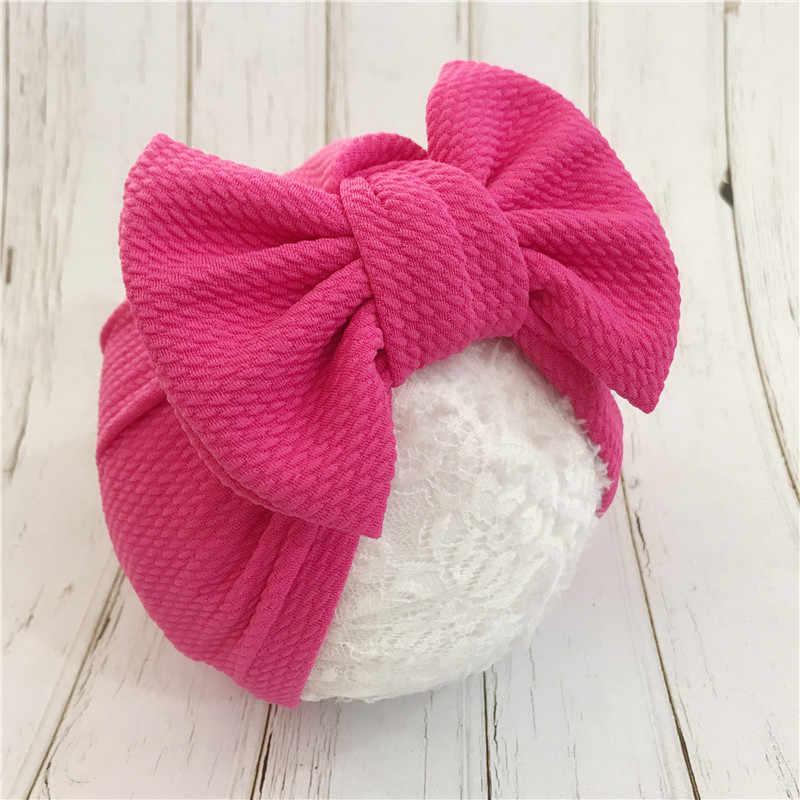 1 قطعة القطن الصلبة كبير القوس قبعة طفل الاطفال Headbands لينة مريحة القط عمامة الأطفال إكسسوارات الشعر