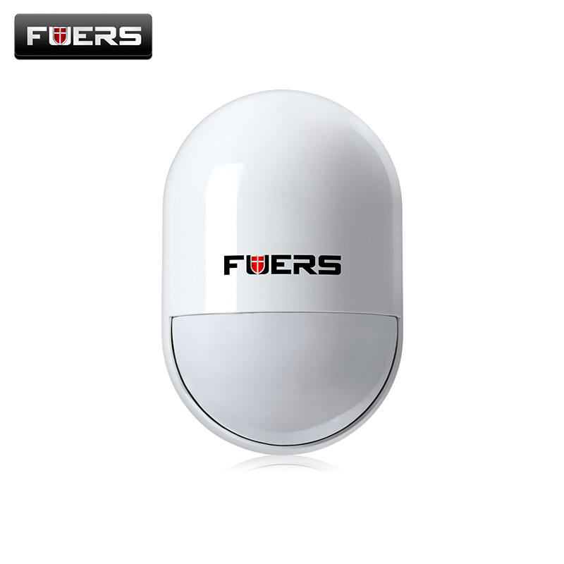 Fuers Wireless high quality pir detector wireless 433MHz pir motion sensor For GSM PSTN Home Security Voice Alarm System fuers wifi gsm sms home alarm system security alarm new wireless pet friendly pir motion detector waterproof strobe siren