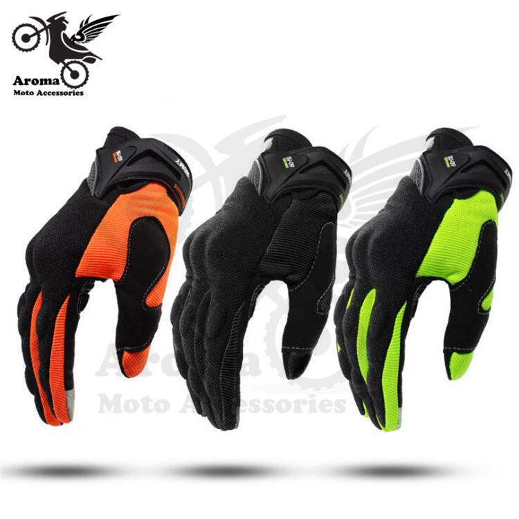 3 colors available black orange green moto protect gloves touch screen for KTM pit bike motocross handglove motorcycle glove