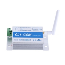 Cl1-Gsm Wireless Remote Control Relay Switch Sms Smart Home Security System Switch Silver + Blue Aluminum Alloy Eu Plug