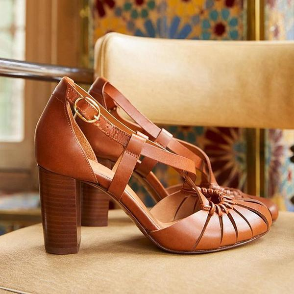 Dress Sandals Buckle Shoes High-Heeled Party Girls Fashion Summer Women Ladies Hollow