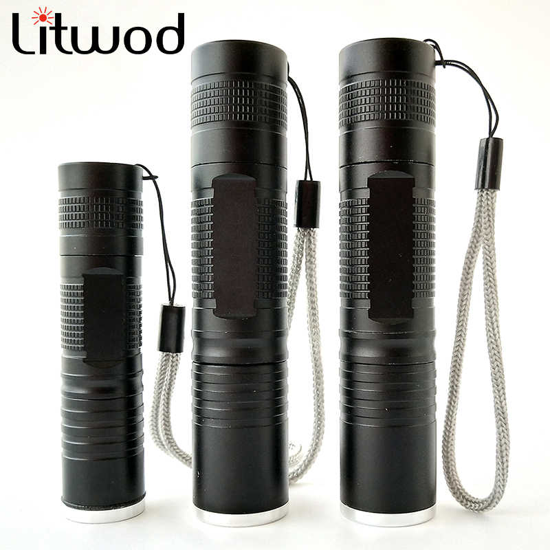 Litwod Z10S5 Xml L2 T6 Q5 Led Zaklamp Zoomable Waterdicht Zoom Zaklamp Camping Wandelen Gebruik 18650 Led Flash Light