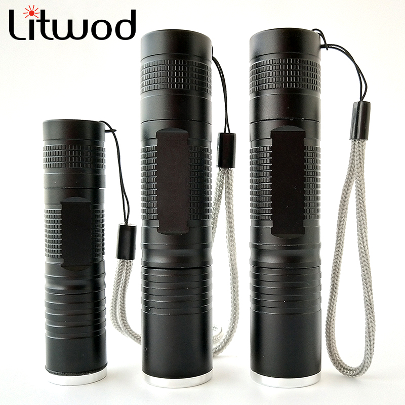 Litwod Z10S5 XML L2 T6 Q5 Led Flashlight Zoomable Waterproof Zoom Flashlight Camping Hiking use 18650 Led flash light 2018 new led flashlight xml t6 xml l2 q5 waterproof 18650 battery touch camping bicycle flash light z94