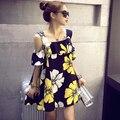 2016 плюс размер лето женщины свободные коротким рукавом цельный белье хлопок платья женские подтяжки бренда
