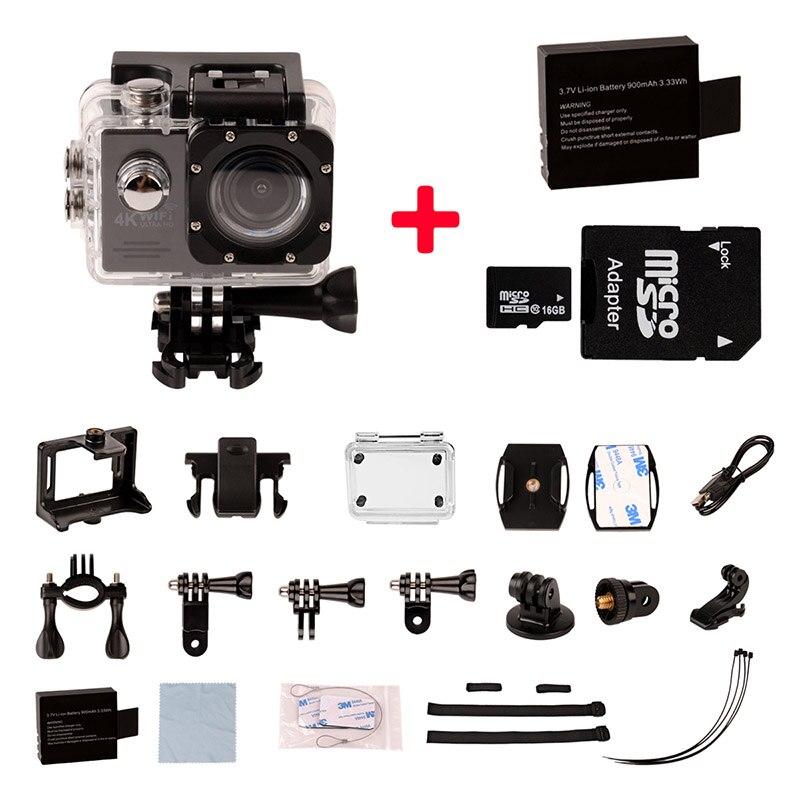 4K Ultra HD WIFI Action Camera 2 inch LTPS Screen 30M Waterproof Underwater Camera Sports HD