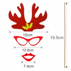 PATIMATE Christmas Paper Hat Funny Moustache Party Mask Photography Christmas Decoration Photo Props 2
