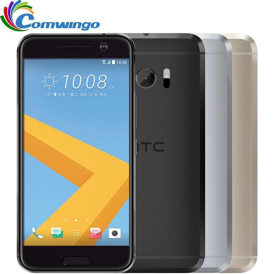 Original HTC 10 M10 RAM GB ROM 32 4 GB Quad Core Snapdragon 820 12MP Câmera NFC SIM Nano Rápida carregador 3.0 4G LTE smartphone telefone